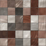 Seamless Shiny Tiles Texture In Brown Shades Stock Photos