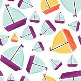 seamless ship f?r modell Tecknad filmstil royaltyfri illustrationer