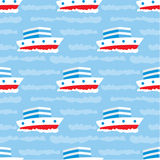 Seamless ships pattern Stock Images
