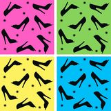 Seamless shoe pattern Stock Photo