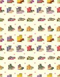Seamless shoe pattern Stock Photos
