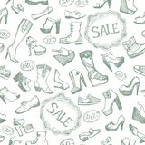 Seamless shoes background Royalty Free Stock Image