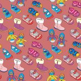 Seamless shoes. Fully editable vector illustration with seamless shoes Royalty Free Stock Photos