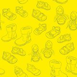 Seamless shoes Royalty Free Stock Image