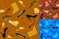 Seamless Shoes Pattern Stock Photo
