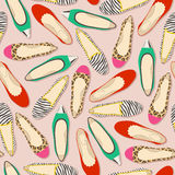 Seamless shoes pattern Royalty Free Stock Images