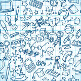 Seamless shool doodles Stock Images