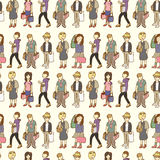 Seamless shopping pattern Royalty Free Stock Photography