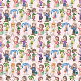Seamless shopping pattern Royalty Free Stock Images
