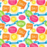 Seamless shopping pattern Stock Image