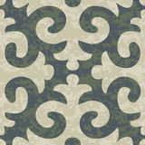 Seamless Shyrdak Fleur de Lis Background Pattern Royalty Free Stock Photos