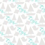 Seamless silhouette baby pattern backdrop. web background for toys store Royalty Free Stock Photography