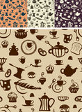 Seamless silhouette background. breakfast Royalty Free Stock Image