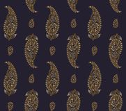 Seamless silk paisley pattern royalty free illustration