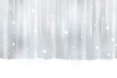 Seamless silver background with snowflakes. Abstract silver background design. Snowfall and light effects give it a dreamy, soft feeling and a glow perfect for royalty free illustration