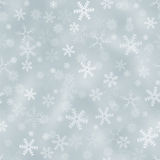 Seamless silver background with snowflakes stock illustration