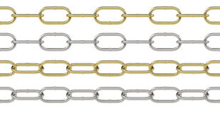 Seamless silver chain Royalty Free Stock Photo