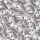 Seamless Silver Coins Background Stock Image