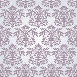 Seamless silver damask wallpaper Stock Image