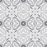 Seamless silver damask wallpaper Stock Image