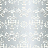 Seamless silver design pattern Stock Photos
