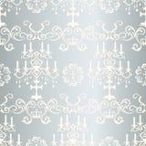 Seamless silver design pattern Stock Photos