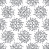 Seamless silver fancy leaves wallpaper Stock Photography