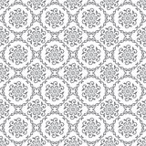 Seamless silver floral royal wallpaper Stock Photos
