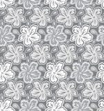Seamless silver flower background Royalty Free Stock Photography