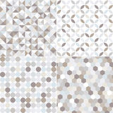 Seamless silver geometric tiles pattern Stock Photography