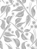 Seamless silver leaves background Royalty Free Stock Images