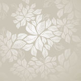 Seamless silver leaves wallpaper Stock Photography