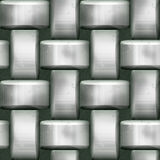 Seamless silver metal 3d pattern with steel bars Stock Image