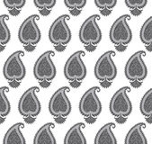 Seamless silver paisley wallpaper Stock Images