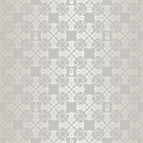 Seamless silver small floral elements wallpaper Stock Photography