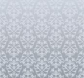 Seamless silver wallpaper Stock Image