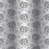 Seamless Silver Wedding Pattern Royalty Free Stock Photography