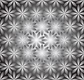 Seamless silverwallpaper av blommor Arkivbilder