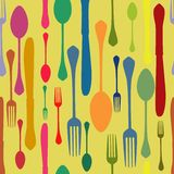 seamless silverware pattern Stock Image