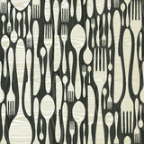 Seamless silverware wooden pattern Royalty Free Stock Photo