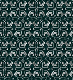 Seamless silwer floral pattern Stock Image