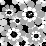 Seamless simple cartoon pattern with flowers Stock Images