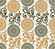 Seamless simple cute floral pattern Stock Photography