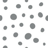 Seamless simple dots pattern, vector background. Stock Image