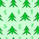 Seamless simple fir-trees Stock Images
