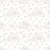 Seamless simple floral pattern Stock Image