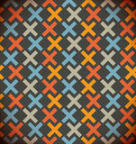 Seamless simple geometrical background. Chequered colorful pattern. Embroidered decorative backdrop Royalty Free Stock Photos