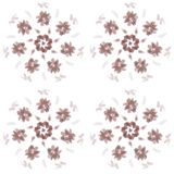 Seamless simple pattern brown circle flowers vector illustration