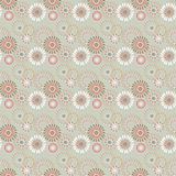 Seamless simple pattern with circles on beige Royalty Free Stock Photos