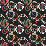 Seamless simple pattern with circles on black Stock Photos